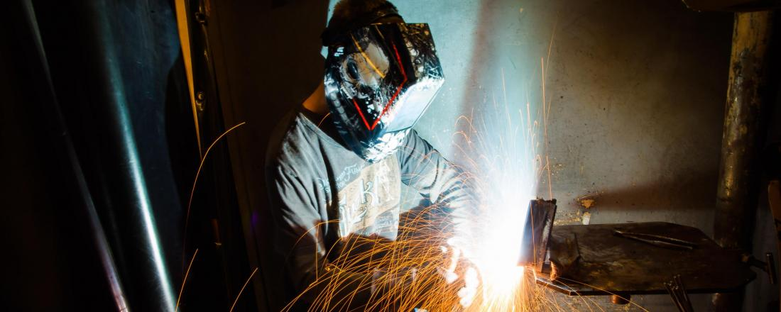 Welder with Face Shield